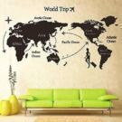 World Trip Travel Map Wall Decal