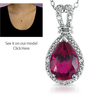 DiamondShark.com - 2.35 Carat Created Ruby & Diamond Pendant