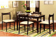 Contemporary 5-Piece Espresso Dining Set