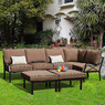 Sandhill Outdoor 7-Piece Sofa Sectional Set