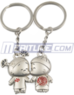 Kissing Love Couple Keychain