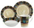 Cayman 16 Piece Melamine Dinnerware Set