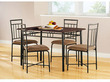 Mainstays 5-Piece Wood and Metal Dining Set
