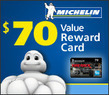 Tire Rack - $70 Amex Reward Card w/ Michelin Tire Purchase