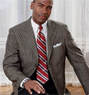 Men's Executive 3-Button Silk/Wool Check Sportcoat