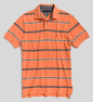 Men's Stripe Pique Polo Shirt