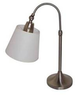 Catalina 24 Brushed Nickel Table Lamp with White Shade