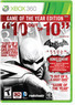Batman: Arkham City Game of The Year (Xbox or PS3)
