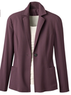 Women's One Button Crepe Blazer