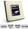 AMD Phenom II Quad-Core 3.4GHz CPU w/ Cooler