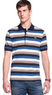 Men's Short Sleeve Multi-Stripe Pique Polo Shirt