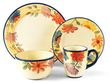 Dancing Blooms 32 Piece Dinnerware Set