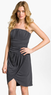 Calvin Klein Women's Strapless Ruched Jersey Dress