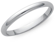 2mm Unisex Comfort Fit Sterling Silver Wedding Band