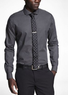 Two Express Men's Polka Dot French Cuff Shirts