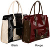 London Fog Essex Colorblock Patent Tote Bag