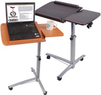 Portable Rolling Laptop Desk Table w/ Split Top