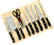 11-Piece German Style Knife Set with Cutting Board