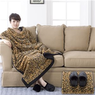 Premier Comfort Long Fur Throw and Slipper Set