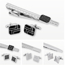 Matching Cufflink and Tie Clip Set