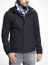 Men's Wool Blend Bomber Jacket