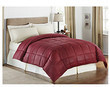 LivingQuarters Embossed Striped Microfiber Down Comforter