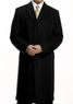 Men's Full Length Merino Wool Topcoat + Free Topcoat