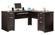 Realspace Magellan Collection L-Shaped Desk - Espresso