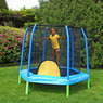 Bazoongi 88 Hexagonal Kids Combo Trampoline and Enclosure