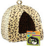 Fleece Pet Hut Bed With Free Retractable Leash