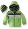 London Fog Boys' 2T-4T Chest Stripe Bubble Jacket