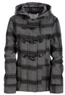 Plaid Wool Toggle Coat