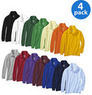 George Long-Sleeve Cotton Polo Shirts 4-Pack Value Bundle