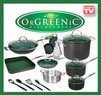 OrGREENic Non-Stick Cookware Pan 16-Piece Set