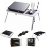 Laptop USB Folding Table w/ 2 Cooling Fan + Mouse Pad