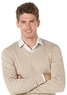 Perry Ellis Men's Ribbed V-Neck Sweater