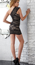 One-Shoulder Lace Panel Dress