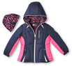 Hawke & Co. Girls 4-6X Navy/Pink Active Hooded Jacket