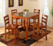 Jaclyn Smith 5-Piece Faux Marble Dining Set