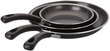 Basic Essentials 3-Piece Non-Stick Fry Pan Set