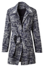 Women's Soft Abstract Trench Coat
