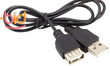 2 Pack of 2ft USB Extension Cables