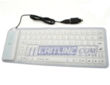 USB + PS / 2 Flexible Foldable Silicone White Keyboard