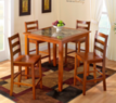 Jaclyn Smith Faux Marble 5-Piece Dining Set