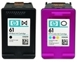 HP 61 Black/Color Ink Cartridge Combo