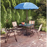 Mainstays Glenmeadow 6-Piece Patio Dining Set with Umbrella