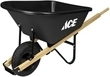 Ace Black 6-Cubic Foot Poly Wheelbarrow