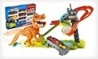 Hot Wheels T-Rex Takedown Playset and 9-Car Gift Pack
