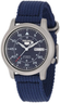 Seiko Men's Seiko 5 Automatic Blue Canvas Strap Watch