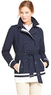 Women's Contrast Banded Trench Coat
